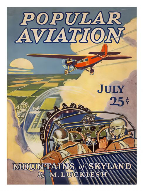 Chris Langley | Popular Aviation Comic Cover