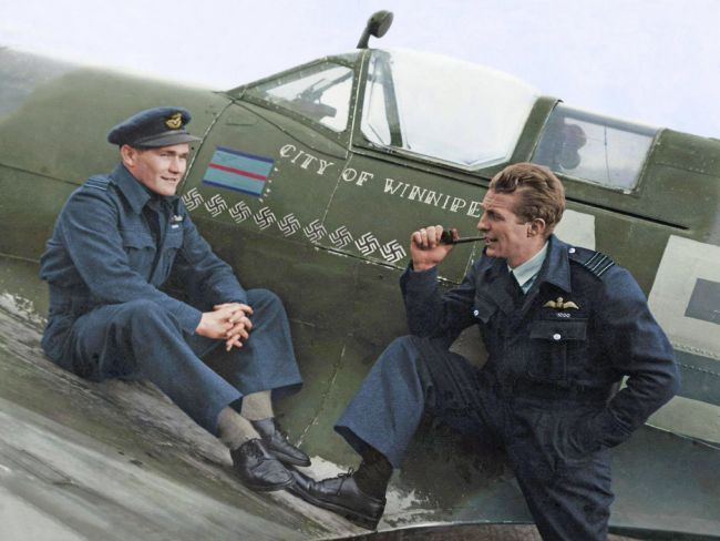 Chris Langley | Two Brave men and Spitfire Mk Vb 501City of Winnipeg Squadron - 1944
