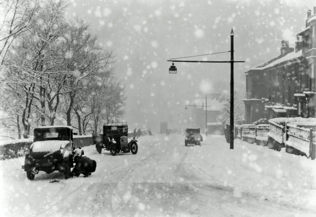 Chris Langley | Lindum Hill, Lincoln, Snowstorm, c1920