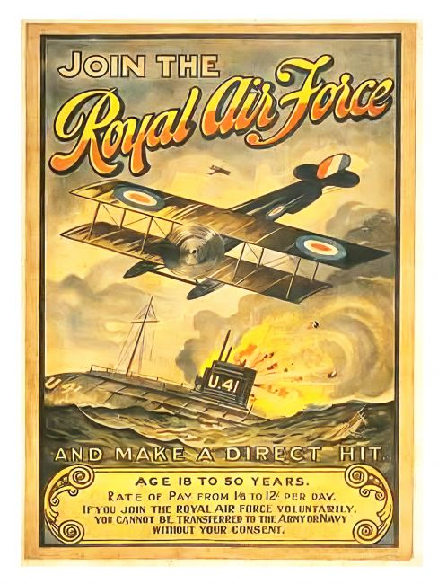 Chris Langley | Join the Royal Air Force, 1918