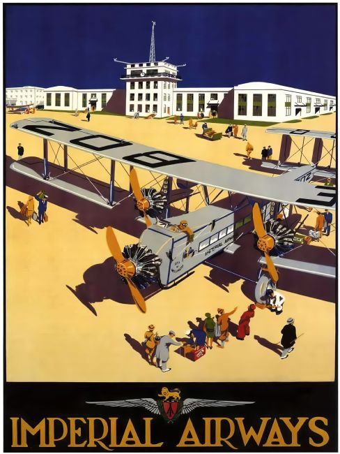 Chris Langley | Imperial Airways, City of Wellington at Croydon