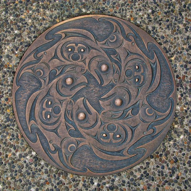 Chris Langley | Vancouver Sidewalk Inset - People of the Salmon