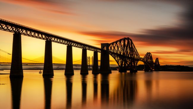Bryan Hynd | Rail Bridge Sunset Panorama