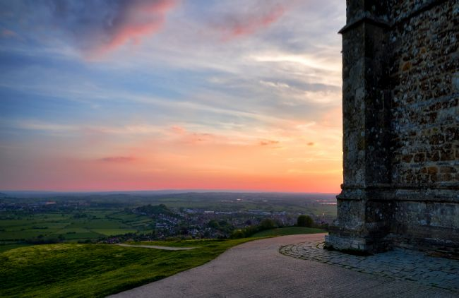 Gordon Maclaren | Somerset Sunset from Glastonbury Tor