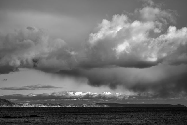 Gordon Maclaren | B+W Cloud formation over Whitsand Bay, Looe, Cornwall