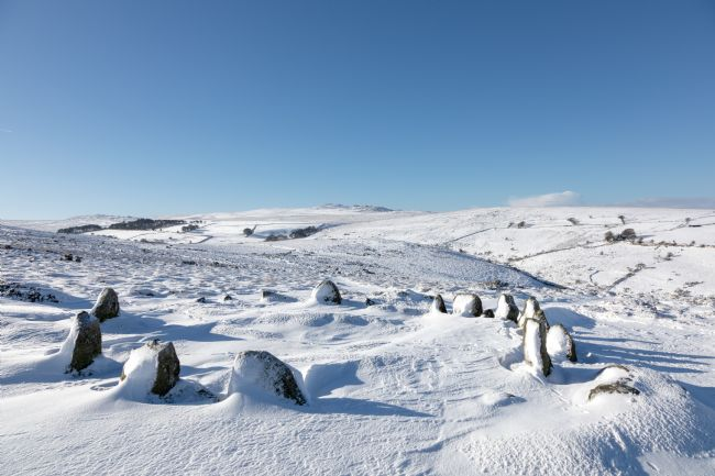 Bruce Little | Winter at Nine Maidens Stone Circle, Dartmoor