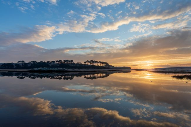 Bruce Little | Mirror image at Budleigh Salterton