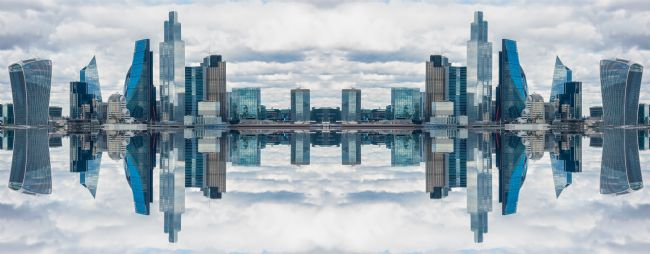 Milton Cogheil | Mirror effect London skyline and skyscrapers
