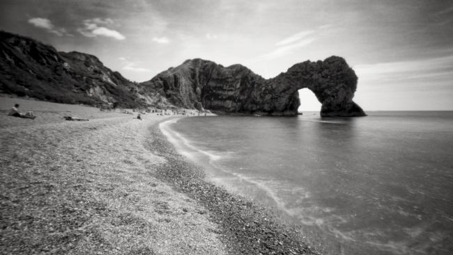 Paul Woloschuk | Durdle Door pinhole photograph