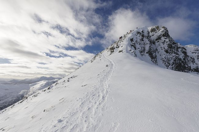 Andrew King | Approaching the summit of Stob Ban