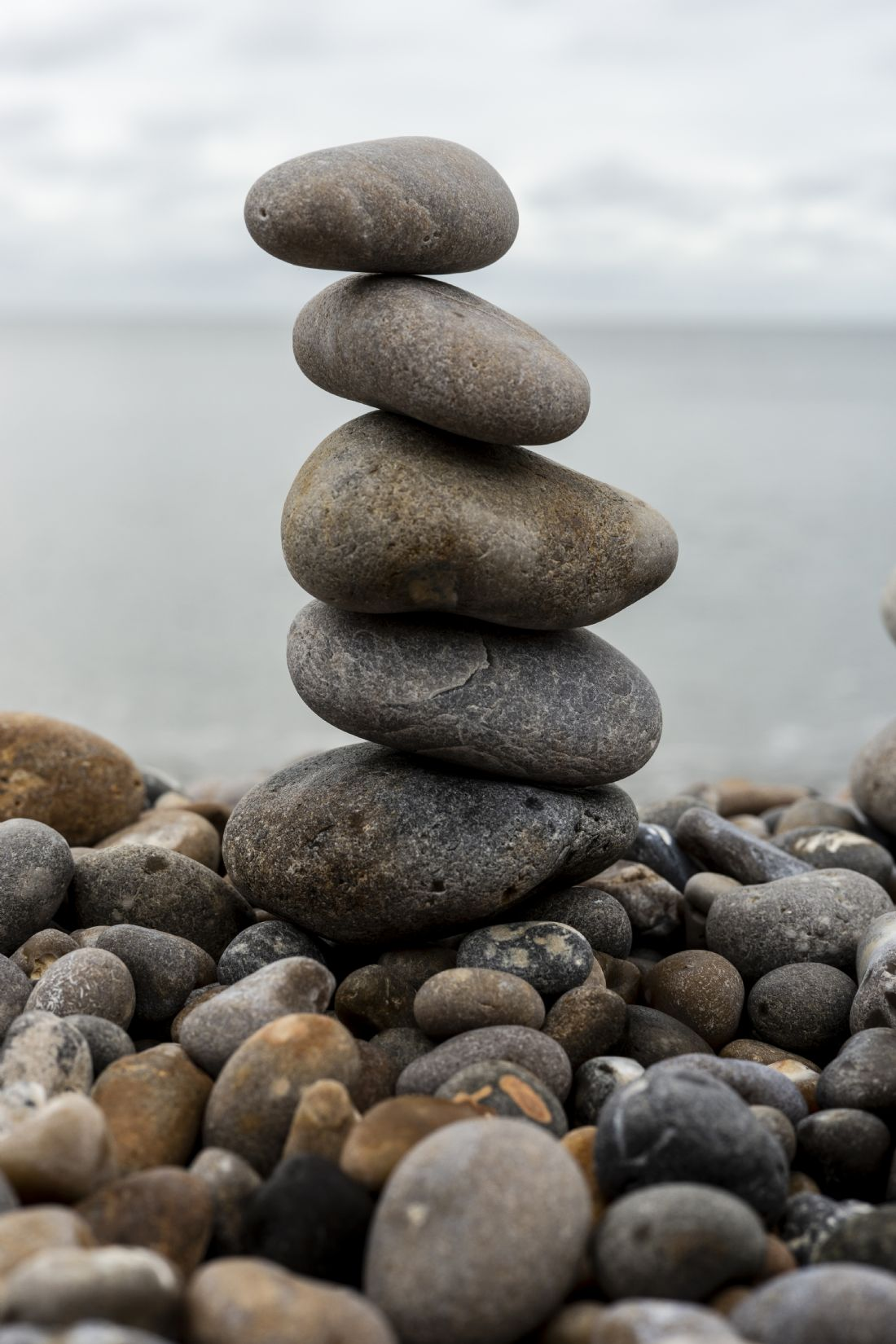 anthony hart | A photogrpahy of a stack of pebbles on the beach in Seaton Devon