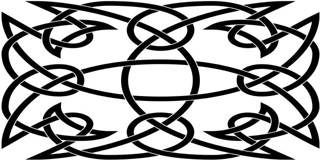 Jane McIlroy | Black Celtic Knotwork Rectangular Motif