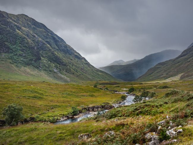 Jane McIlroy | Showers in Glen Etive, Scotland
