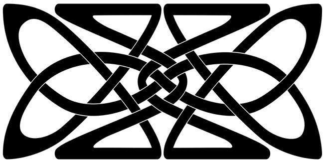 Jane McIlroy | A Black Celtic Knotwork Rectangular Motif