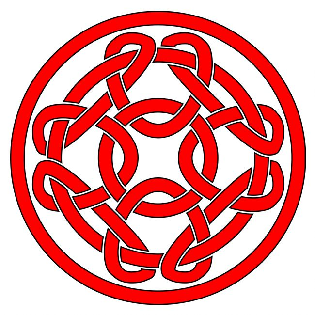 Jane McIlroy | Red Celtic Knotwork Round Motif