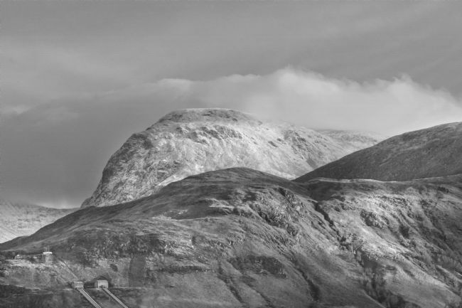 Linsey Williams | Ben Nevis, Scotland. Black and White