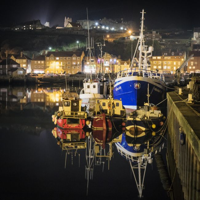 Janet Burdon | Whitby Harbour Reflections