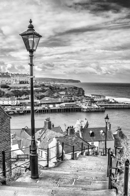 Sandra Cockayne | 199 Steps Of Whitby - Monochrome