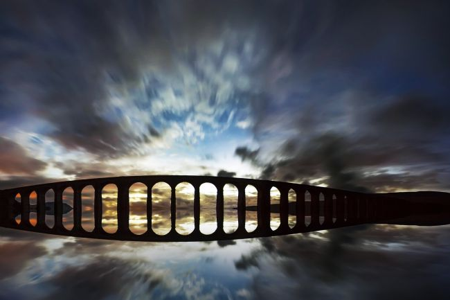 Sandra Cockayne | Ribblehead Viaduct Flood -DIGITAL ART