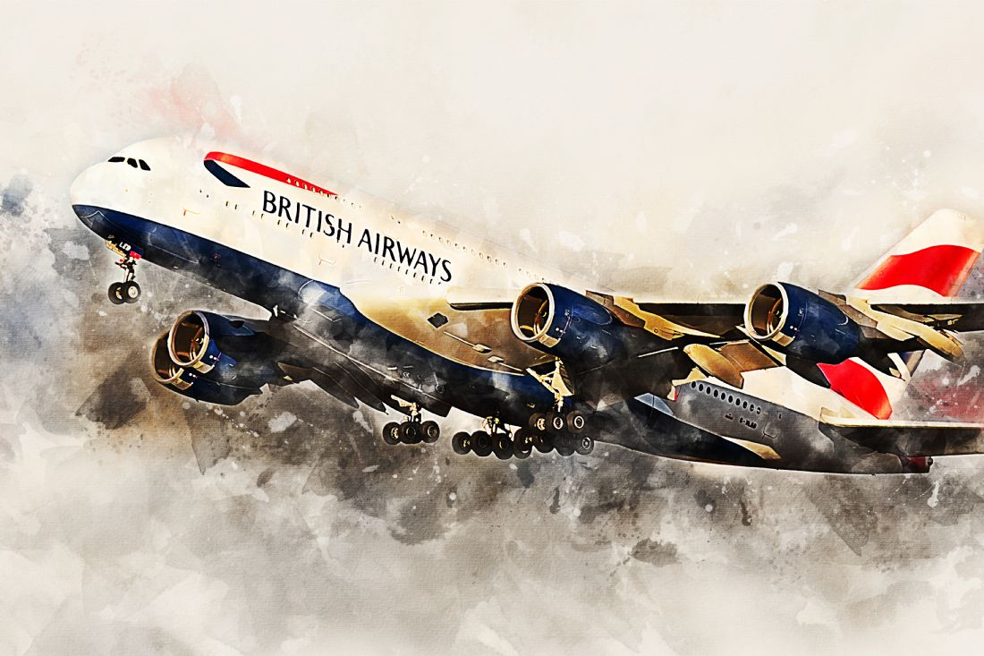 James Biggadike | BA Airbus A380 - Painting