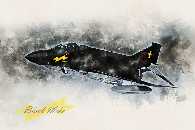 James Biggadike | F-4 Phantom Black Mike - Painting