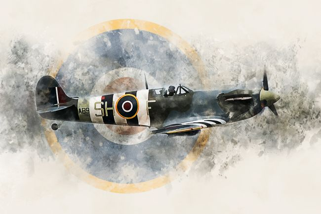 James Biggadike | Spitfire AB910 - Painting