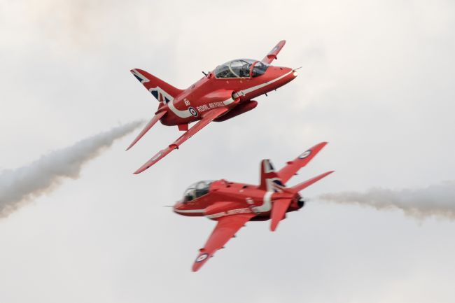 Airpower Art | Red Arrows Synchro Pair