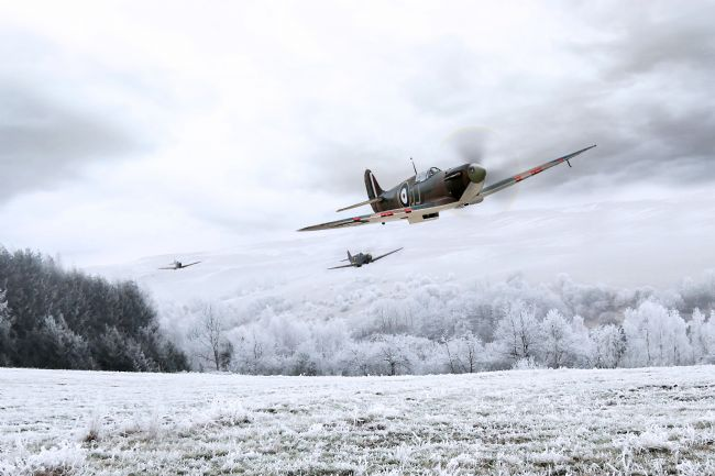 Airpower Art | Home Through The Snow
