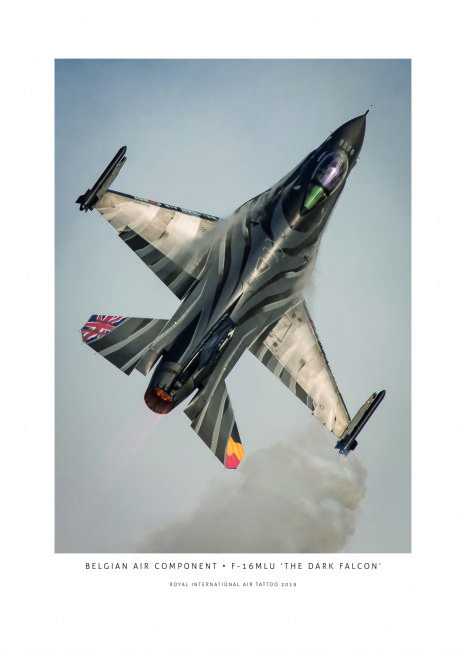 Airpower Art | Belgian Air Component F-16MLU The Dark Falcon