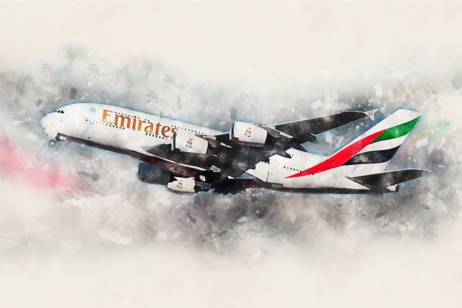 James Biggadike | Emirates A380 - Painting