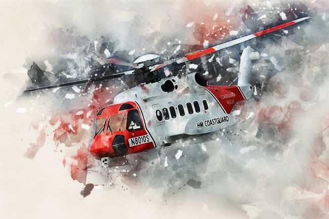 James Biggadike | Sikorsky S-92 Coast Guard - Painting