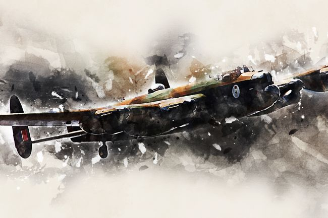 James Biggadike | Lancaster Bomber - Vera - Painting