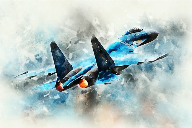 James Biggadike | SU-27 Flanker - Painting