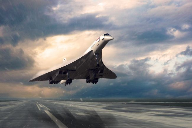 Airpower Art | Concorde Rainy Arrival