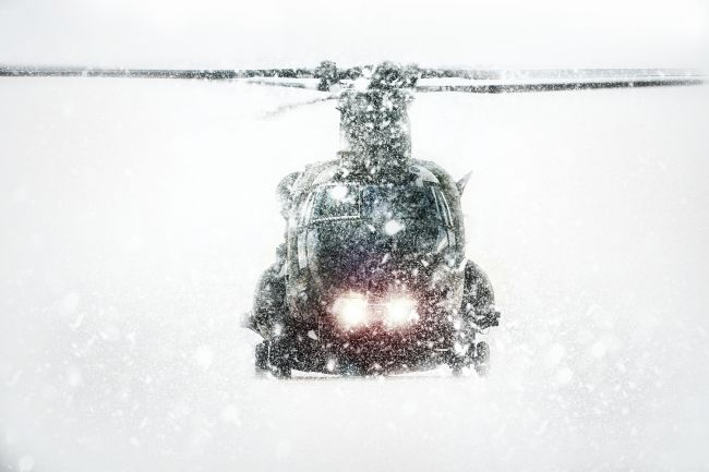 James Biggadike | Chinook In The Snow