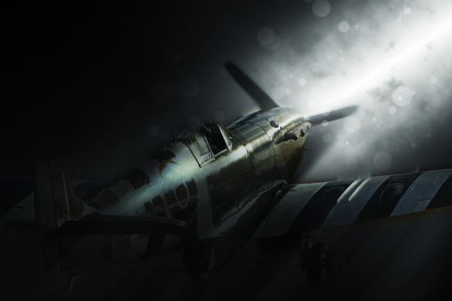 Airpower Art | Spitfire AB910 Dust