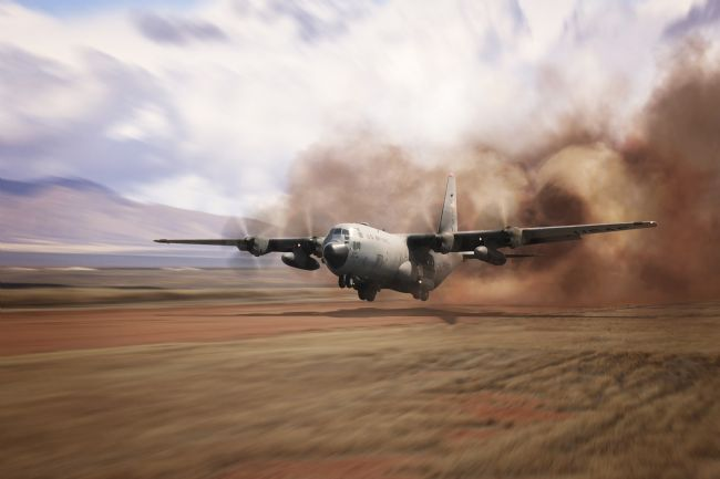 Airpower Art | Dirt Strip Landing