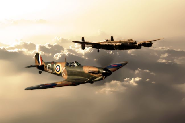 James Biggadike | BBMF Spitfire and Lancaster