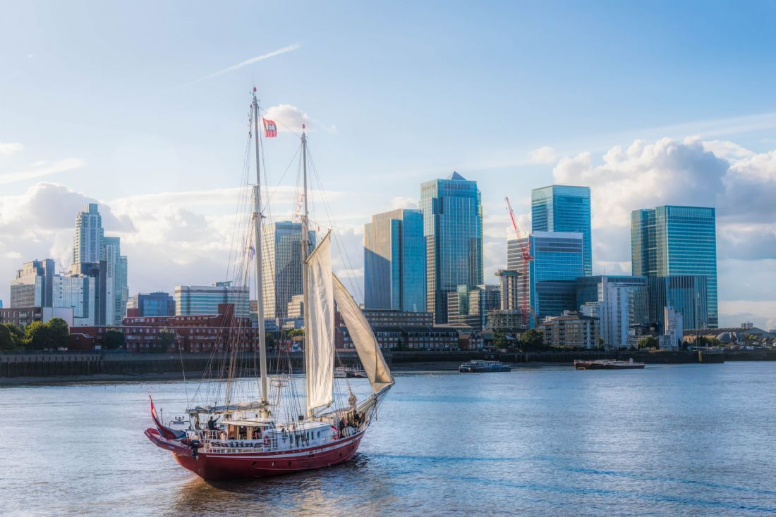 Christine Fitzgerald | Sailing Past Canary Wharf