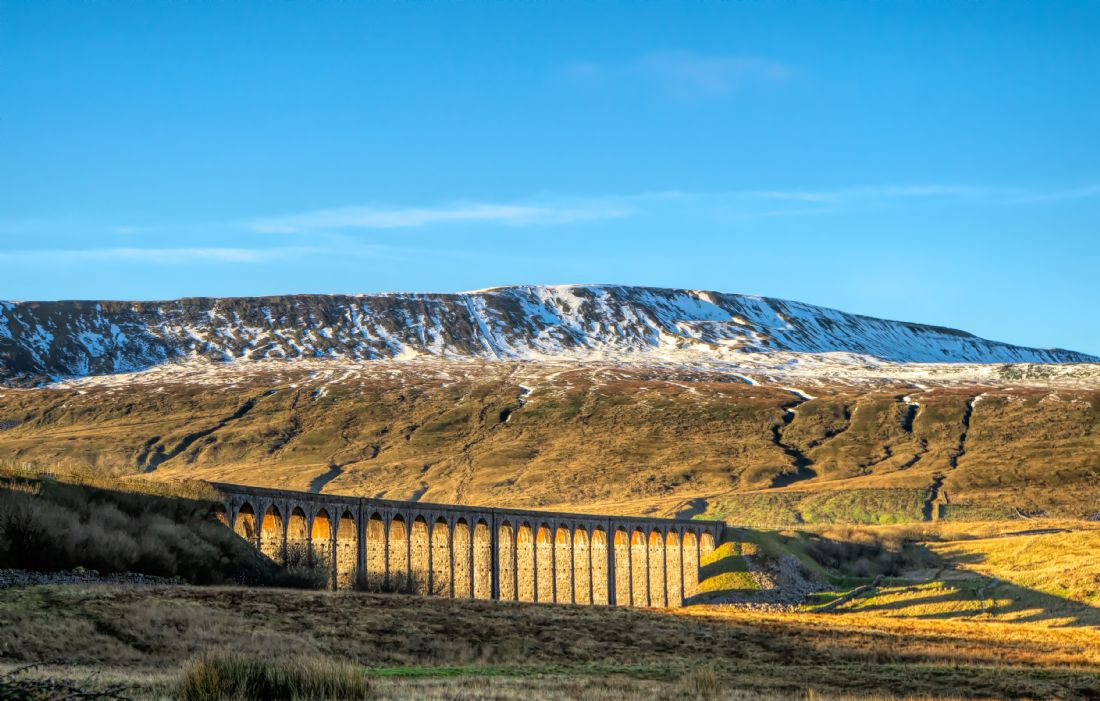 Christine Fitzgerald | Golden Winter Day At Ribblehead Viaduct