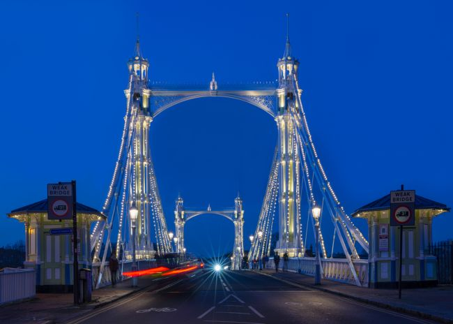 Christine Fitzgerald | Albert Bridge At Night