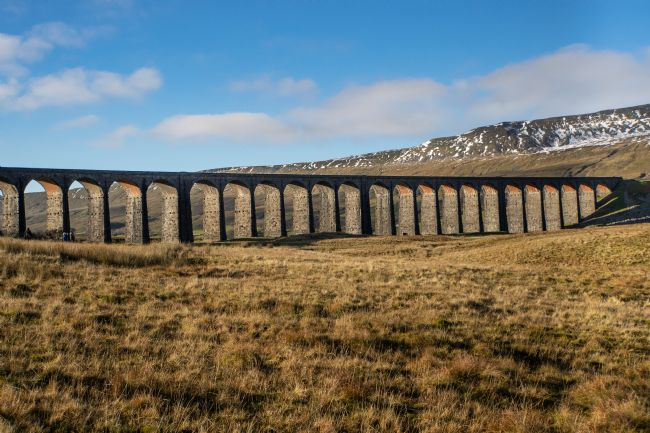 Christine Fitzgerald | Ribbleshead Viaduct With Snow on the Dales