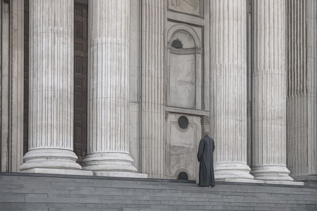Christine Fitzgerald | Buddhist Monk On The Steps Of St Paul's