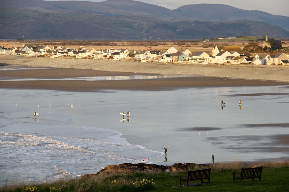 Elvia Worrall | Evening sun on Borth, Wales