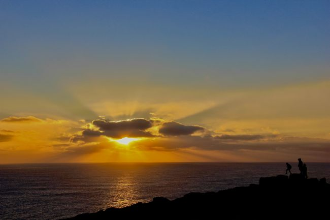 Elvia Worrall | Sunset at Lands End, Cornwall, UK