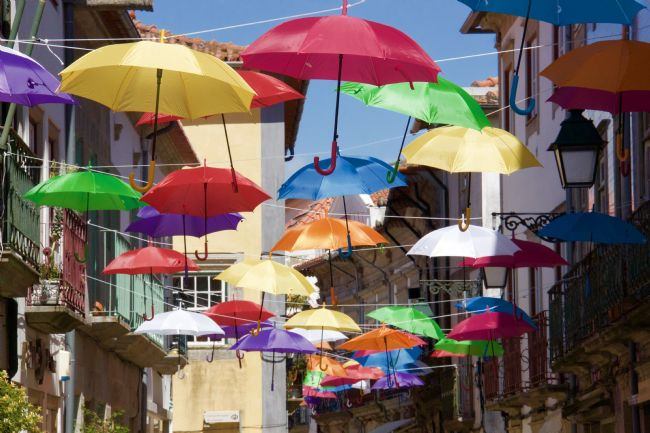 Elvia Worrall | Umbrella Street, Viana do Castelo, Portugal