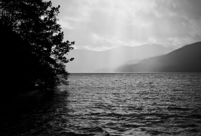 Elvia Worrall | Rain shower on Loch Lomond