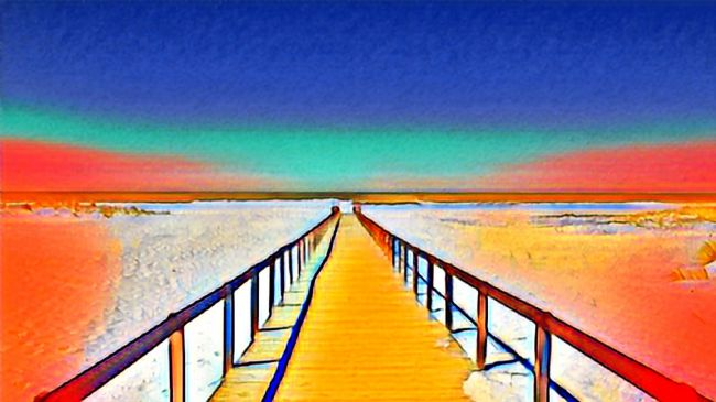 Elvia Worrall | Infinity boardwalk painting