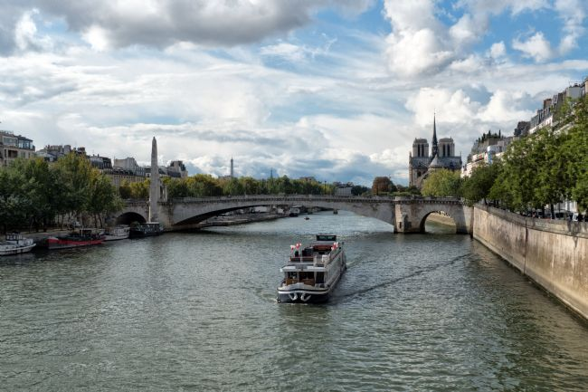 Lynn Bolt | River Boat on the River Seine