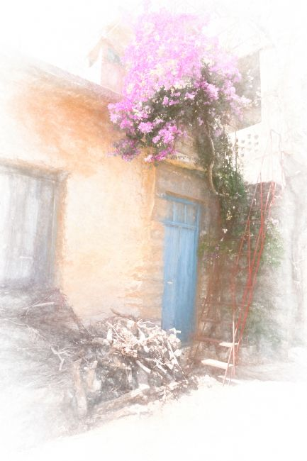 Lynn Bolt | Cretan House with Bougainvillea